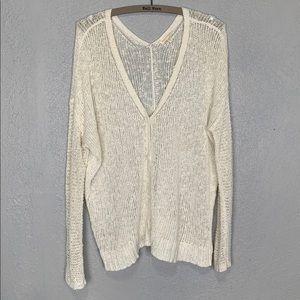 Eileen Fisher cotton linen blend cardigan